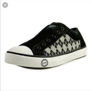 UGG Australia Laela black&gray checker sneakers